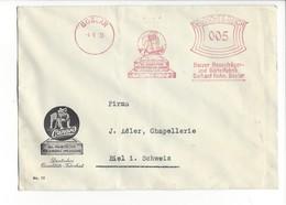 22070 - Lettre Goslar Cunard Boxer Pour Biel 1935 Deutsches Qualitäts Fabrikat Deutsches Reich 005 - Allemagne
