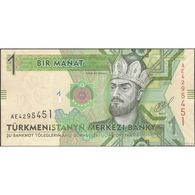 TWN - TURKMENISTAN 29b - 1 Manat 2014 Prefix AE UNC - Turkmenistan