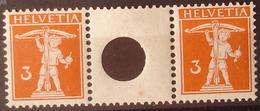 Schweiz Suisse 1917: Zwischen-Steg Gelocht Pont Avec Trou Zu S11 Mi WZ8A * MLH (Zu CHF 45.00 -50%) - Se-Tenant