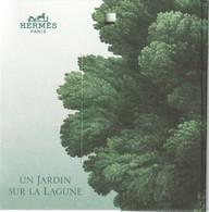 HERMES  **Un Jardin Sur La Lagune **  Etiquette Cadeau 3 Volets - Cartes Parfumées