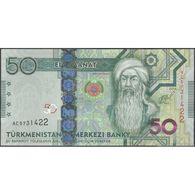 TWN - TURKMENISTAN 33 - 50 Manat 2014 Prefix AC UNC - Turkménistan