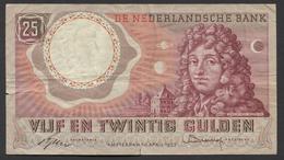 Netherlands  25 Gulden 10-4-1955 - NO: 2 YZ 049396  - See The 2 Scans For Condition.(Originalscan ) - [2] 1815-… : Koninkrijk Der Verenigde Nederlanden