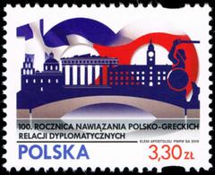 Poland 2019 Fi 4956 Mi 5106 100th Anniversary Of Establishing Polish-Greek Diplomatic Relations - 1944-.... República