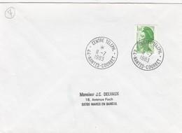 FRANCE- LETTRE CACHET CENTRE TELEPH. NANTES OURBET 11.7.1983    /4 - Marcophilie (Lettres)