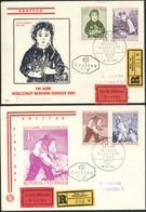 Österreich-   - FDC   -  Mi.Nr.  1087 - 1090   100 Jahre Gesellschaft Bildender Künstler Wiens - FDC