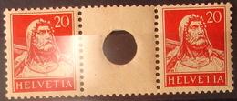 Schweiz Suisse 1924: Zwischen-Steg Gelocht Pont Avec Trou Zu S30 Mi WZ22B * MLH (Zu CHF 35.00 -50%) - Se-Tenant