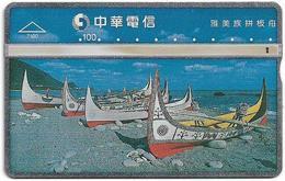 Taiwan - Chunghwa Telecom - L&G - Fantastic Boats - 721C - 1997, 100U, Used - Taiwan (Formosa)