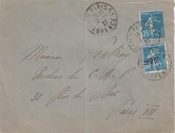 FRANCE- LETTRE PARIS R. DE PROVENCE 18.1.27 POUR PARIS RUE DU BAC   /4 - 1921-1960: Modern Tijdperk