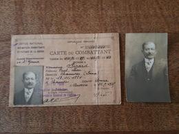 1935 - Carte Du Combattant Mr Picard, Paul, Léon De Chamvres, Fait à Auxerre - Office National Des Mutilés, Combattants - Documents