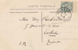 FRANCE- CP MACON SAÔNE ET LOIRE 5.9.07 POUR CARLISLE GB.  /4 - Marcofilie (Brieven)