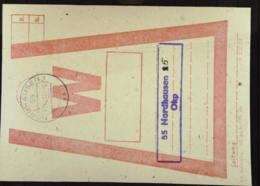 DDR: Beutelfahne Für Wertbriefe, OSt. Nordhausen 1 13.12.82 - Zweimal Benutzt - Nordhausen 5 13.12.82 - Briefe U. Dokumente
