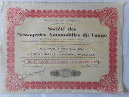 Messageries Automobiles Du CONGO            1927       AKETI            LINGALA - Actions & Titres