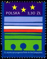 Poland 2019 Fi 4961 Mi 5111 The 15th Anniversary Of Poland's Accession To The European Union - 1944-.... República