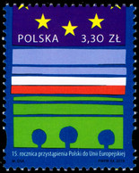 Poland 2019 Fi 4961 Mi 5111 The 15th Anniversary Of Poland's Accession To The European Union - Nuevos