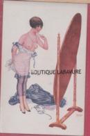 ILLUSTRATEUR --HEROUARD---Sous Les Armes---Femme Devetue Se Regardant Dans Un Miroir - Autres Illustrateurs
