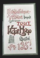 DEPLIANT ANCIEN ART NOUVEAU LIBRAIRIE OLLENDORFF BIBLIOTHEQUE VITRINE LAQUEE COLLECTION VICTOR HUGO BALZAC MAUPASSANT - Publicités