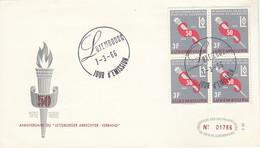 LUXEMBURG 1966 - MiNr: 723 4er  FDC - FDC