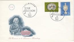 LUXEMBURG 1967 - MiNr: 754-755  FDC - FDC