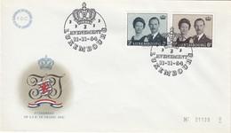 LUXEMBURG 1964 - MiNr: 701-702 Thronbesteigung  FDC - Königshäuser, Adel