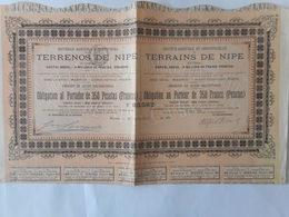 Agricole Et Industriels Des TERRAINS De NIPE CUBA 1882 - Aandelen
