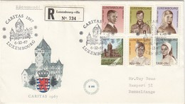 LUXEMBURG 1967 - MiNr: 759-764 Reko Beleg Gelaufen  FDC - Königshäuser, Adel