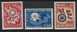 "Viet-Sud YT 256 à 258 "" Bouddhisme "" 1965 Neuf** MNH - Viêt-Nam"