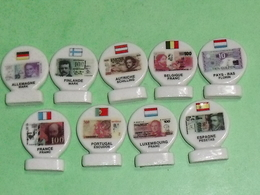 Lot De 9 Fèves : Europe , Billet Euro    TB5 - Pays