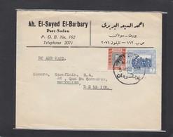 LETTRE DE PORT SUDAN POUR BRUXELLES. - Soudan (...-1951)