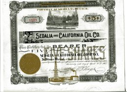 SEDALIA And CALIFORNIA OIL Co. - Pétrole