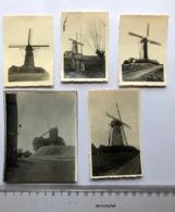 Molen Windmill Moulin 5 Kleine Fotos - Te Identificeren