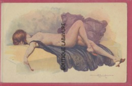 ILLUSTRATEUR --PENOT---Modele D'Atelier----Femme Nue Allongée - Künstlerkarten