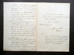 Autografo Bruzzo Giuseppe Firma Manoscritto Osservazioni Marina Mercantile 1865 - Autografi