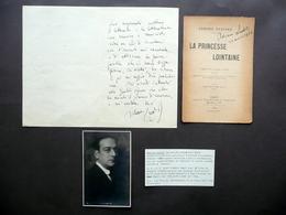 2 Autografi Adriano Lualdi Lettera Firma Frontespizio Lucio D'Ambra G. Barattolo - Autografi