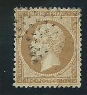 FRANCE: Obl., N° YT 21, Bistre, Centré, TB - 1862 Napoléon III