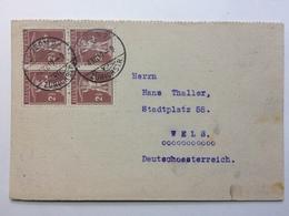 SWITZERLAND - 1919 Postcard Luzern To Wels Deutschoesterreich - Switzerland
