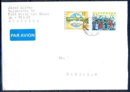K762- Postal Used Cover. Posted From Slovensko Slovakia To Pakistan. Book. Music. Bird. - Slovakia