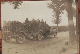 Photo  Guerre 1914 1918   Véhicule Camion Transport Tube Hydrogène Aerostation - 1914-18