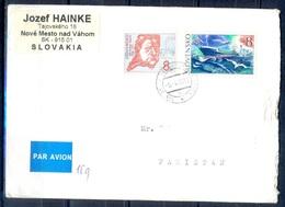 K764- Postal Used Cover. Posted From Slovensko Slovakia To Pakistan. Bird. Ship. - Slovakia