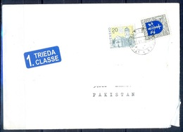 K765- Postal Used Cover. Posted From Slovensko Slovakia To Pakistan. Building. - Slovakia