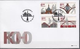 +F1095. Denmark 2011. Copenhagen Central Railway Station. Michel 1669-72. (16€).  FDC. - FDC