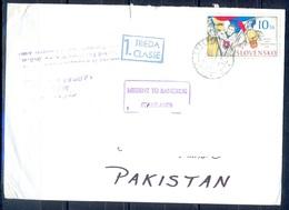 K766- Postal Used Cover. Posted From Slovensko Slovakia To Pakistan. Map. - Slovakia