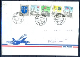 K767- Postal Used Cover. Posted From Slovensko Slovakia To Pakistan. Building. Flag. - Other