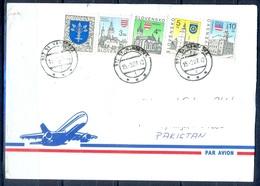 K767- Postal Used Cover. Posted From Slovensko Slovakia To Pakistan. Building. Flag. - Slovakia