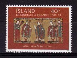 2000 - VATICANO-ISLANDA, Cristianesimo In Islanda - MNH ** - Emissioni Congiunte
