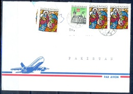 K769- Postal Used Cover. Posted From Slovensko Slovakia To Pakistan. Building. Map. - Slovakia