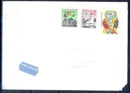 K772- Postal Used Cover. Posted From Slovensko Slovakia To Pakistan. Building. Flag. - Slovakia