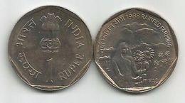 India 1 Rupee 1988.  KM#82 FAO - Rainfed Farming High Grade - Inde