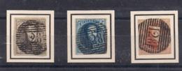 WAREGEM P128 NR 6-7-8 + KEURMERK OP ZEGEL NR.8 - 1851-1857 Médaillons (6/8)