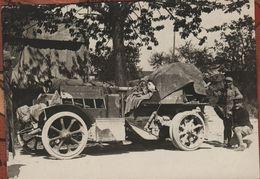 Guerre 1914 1918 Très Belle Photo Auto Canon De 75 Camouflée Et Bachée - 1914-18