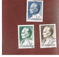 JUGOSLAVIA (YUGOSLAVIA)   - SG 1275.1278  -    1968 PRESIDENT TITO     USED - 1945-1992 Repubblica Socialista Federale Di Jugoslavia